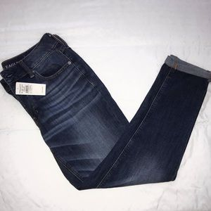 American Eagle Outfitters dark wash mid rise jeans